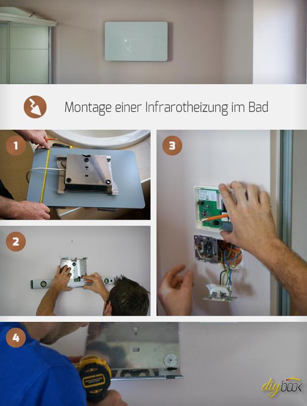 montage einer infrarotheizung im bad anleitung. Black Bedroom Furniture Sets. Home Design Ideas
