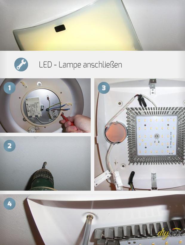 led lampe anschlie en anleitung tipps. Black Bedroom Furniture Sets. Home Design Ideas