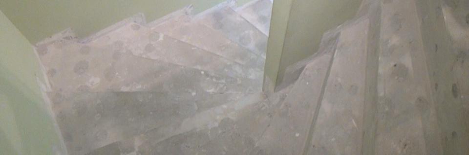Treppenstufen Holz Reparatur ~   verkleiden  Treppenverkleidung mit Holz  Anleitung @ diybook de