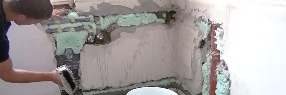 Wand verputzen wand spachteln anleitung for Badezimmer verputzen