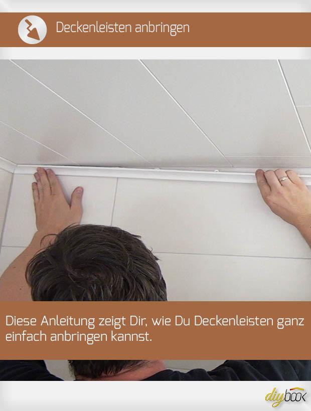 Deckenleisten Anbringen Richtig Auf Gehrung Schneiden Und Verkleben Anleitung Diybook De