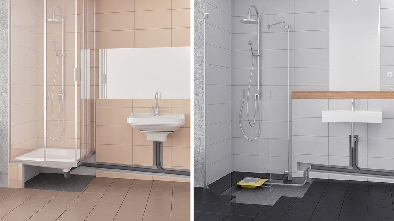 tiefergelegt wenn das duschwasser bergauf flie en muss in technik wohnen. Black Bedroom Furniture Sets. Home Design Ideas