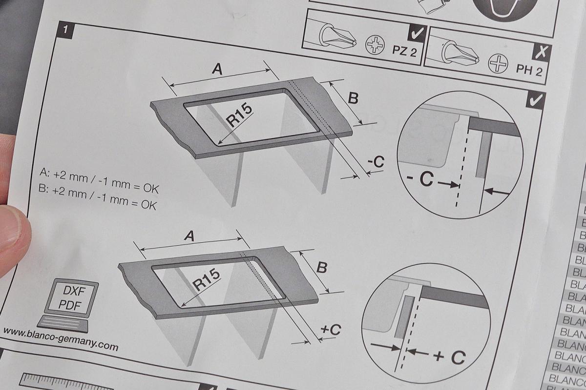 Blanco Spule Einbauen Schritt 1 Arbeitsplatte Ausschneiden Anleitung Diybook De