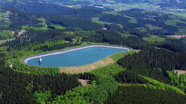 Oberbecken des Pumpspeicherkraftwerks Rönkhausen
