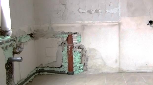 Die Ausgangssituation: Wand verputzen und Wand spachteln