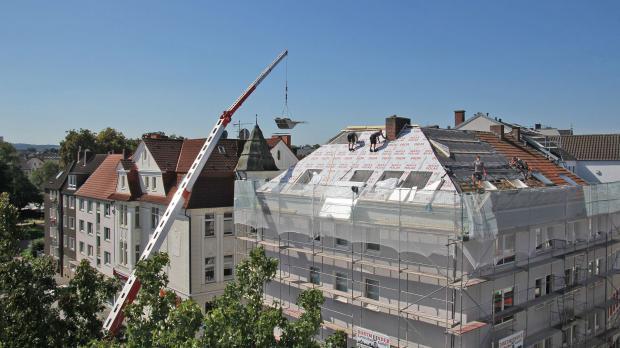Außendämmung am Dach