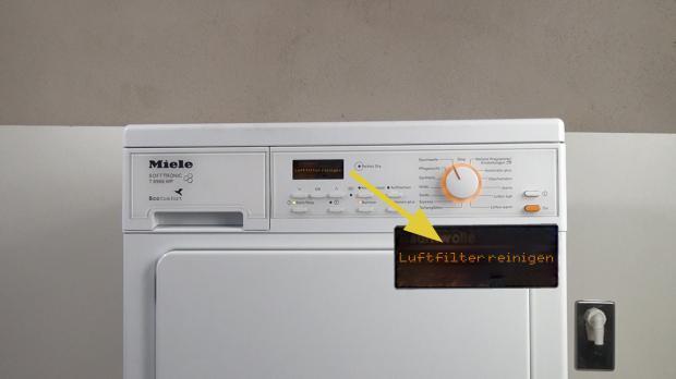 Fehlermeldung Luftfilter reinigen