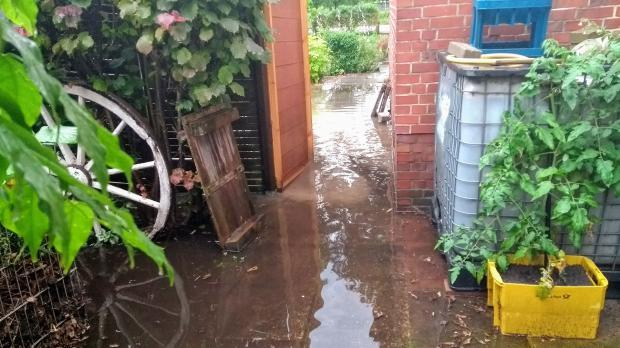 Grundstück unter Wasser