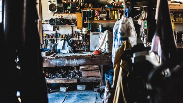 Private Werkstatt in der Garage