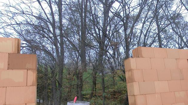 Die Maueröffnung vor dem Einbauen des Türsturzes