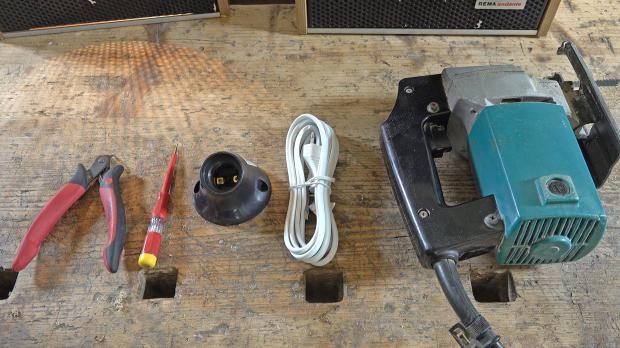 Benötigtes Werkzeug für die DIY-Lampe