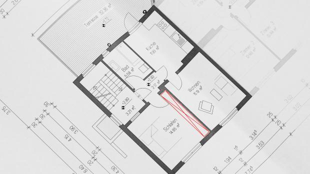 Raumplanung für den Wandschrank