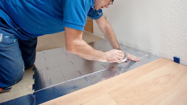 Trittschalldämmung für Fußbodenheizungen