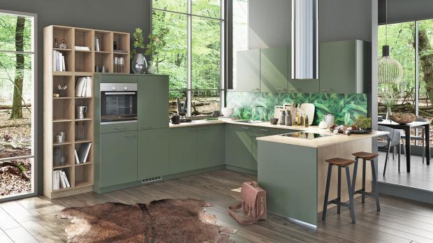 Moderne Küche in U-Form