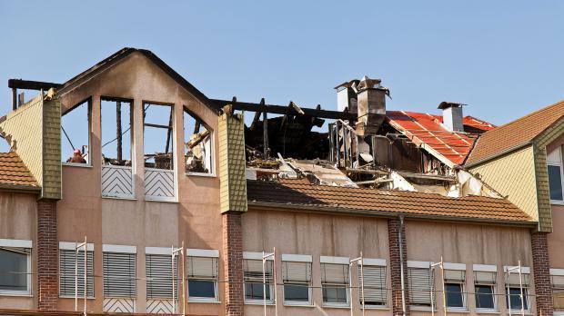Materieller Verlust nach Wohnungsbrand