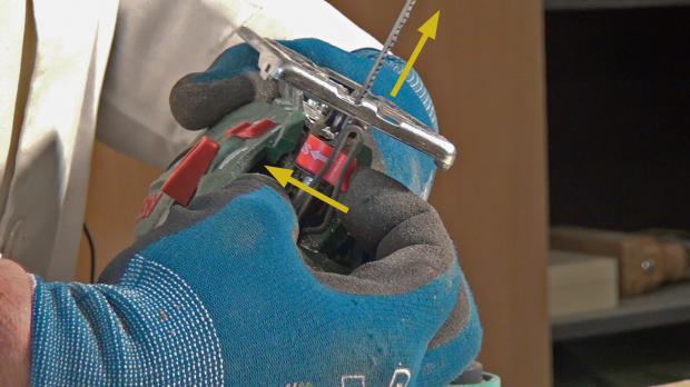 Sägeblatt wechseln bzw. entfernen
