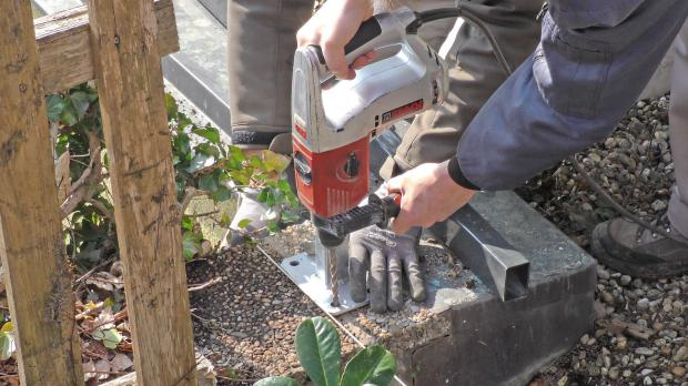 Bohrhammer bei der Arbeit