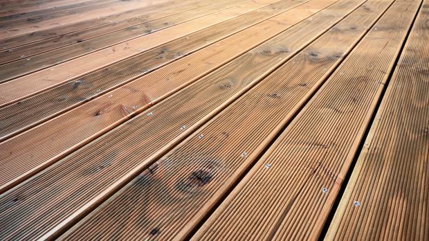 Fertige Holzterrasse
