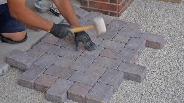 Muster Zum Pflastern : Garageneinfahrt pflastern  Anleitung zum Betonpflaster verlegen
