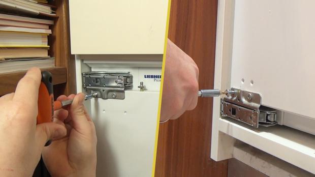 Kühlschranktür abschrauben