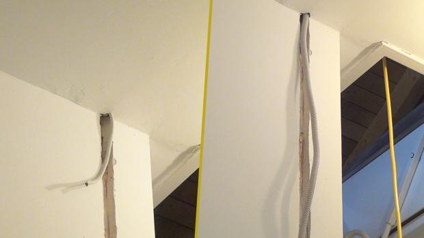 Kabel und Leerrohr einfädeln