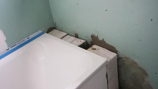 Badewanne einmauern mit ablage  Badewannen-Ablage mauern @ diybook.de