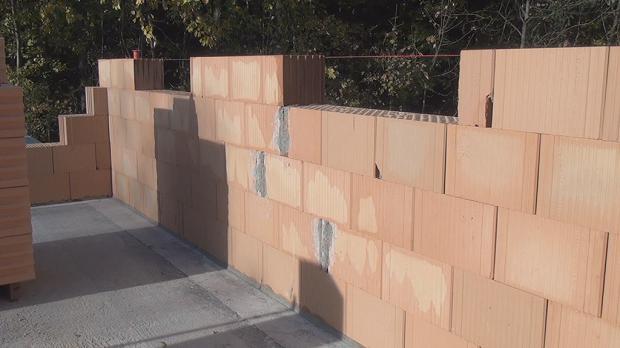 Das Ergebnis der gemauerten Wand