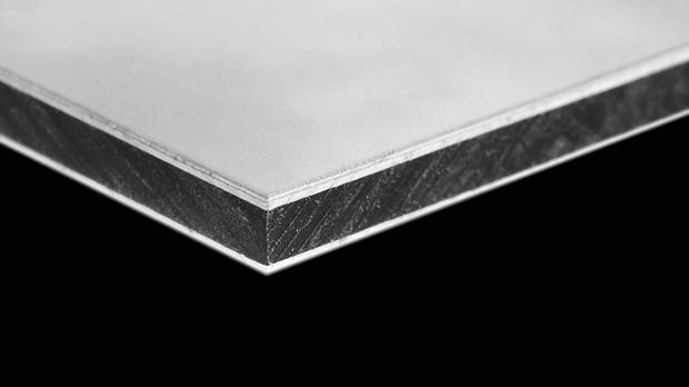 Aufbau einer Dibond® Sandwichplatte