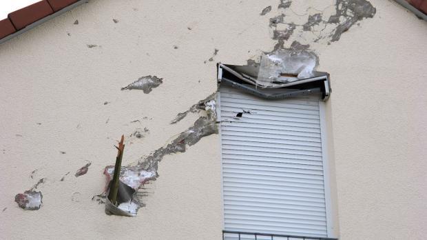 Sturmschäden an einem Haus