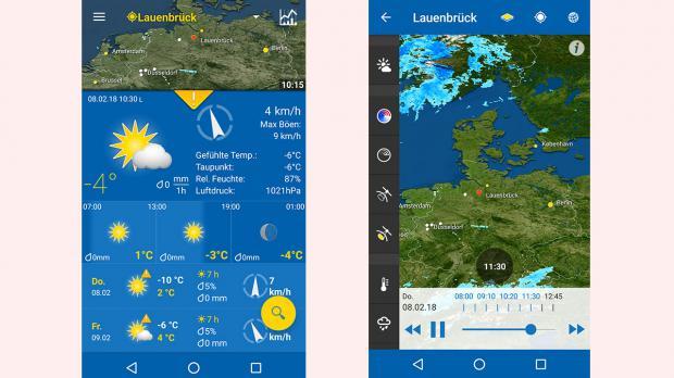 Wetter-App WeatherPro