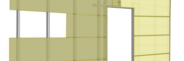 Beplankung im Trockenbau - Trockenbau-Ständerwand doppelt beplankt