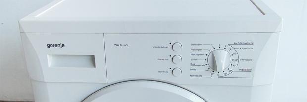 Bedientafel der Waschmaschine