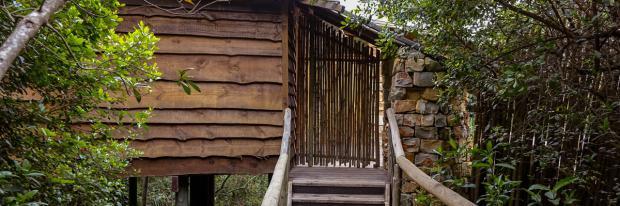 Komfortables Baumhaus zwischen den Baumkronen