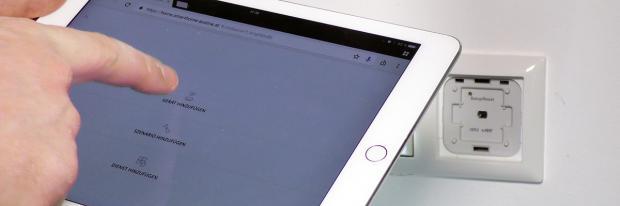 Steuerung des Rollladens mit Hilfe eines Tablets