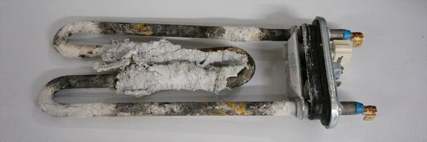 Kaputter Heizstab - Durchgebrannt mit Taschentuchresten