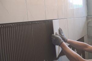 Fliesen legen - Eine Wand halbhoch verfliesen