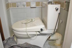 Toilette abbauen