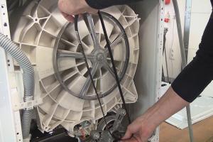 Waschmaschine – Keilriemen wechseln