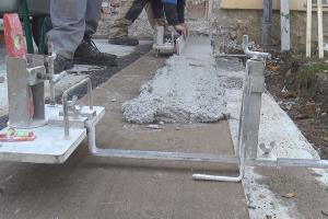 Bodenplatte nivellieren