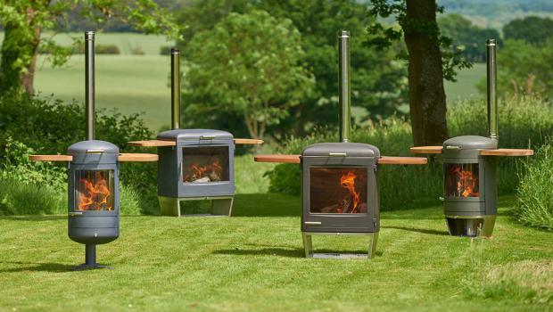 f r gem tliche abende garten kamin fen mit grillfunktion in wohnen garten. Black Bedroom Furniture Sets. Home Design Ideas