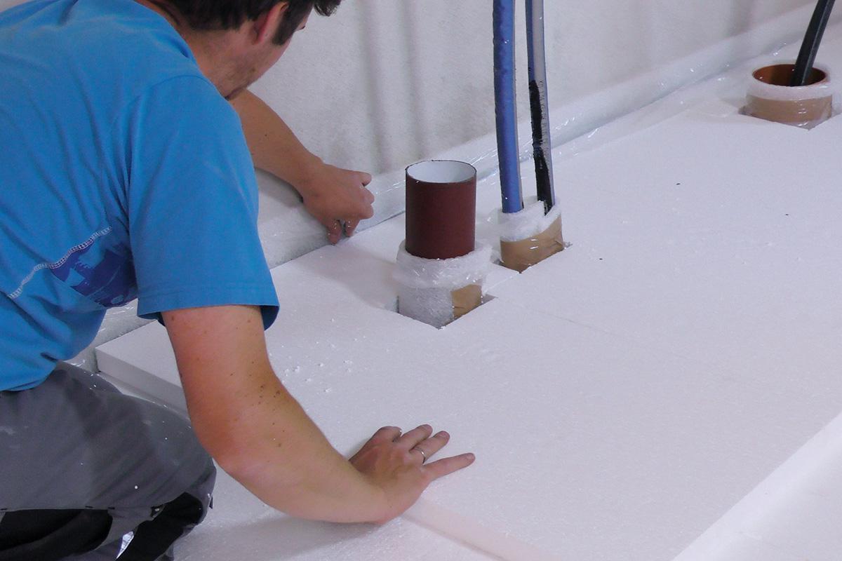 Fußboden Braun Oriflame ~ Dämmung fußboden rohre » estrichdämmung verlegen anleitung diybook