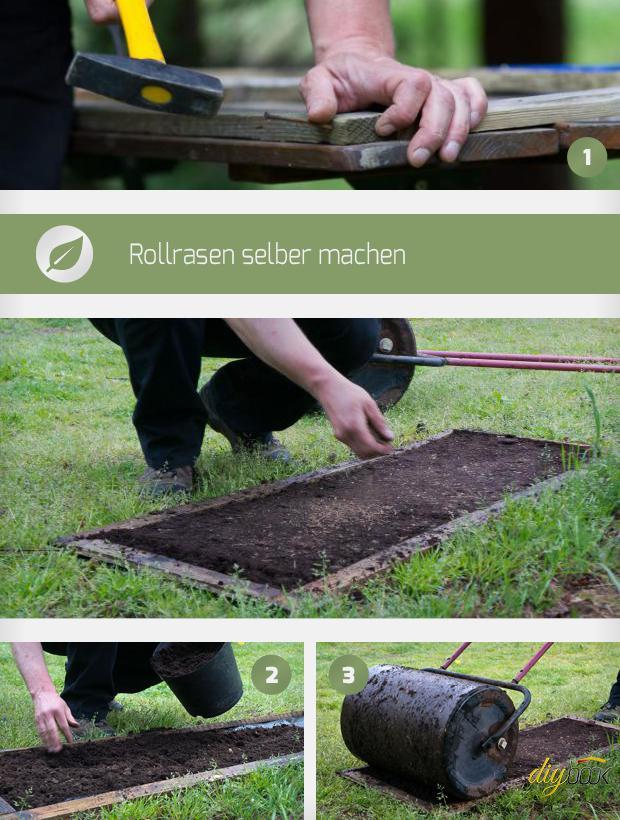 Rollrasen Selber Machen   Anleitung @ Diybook.de