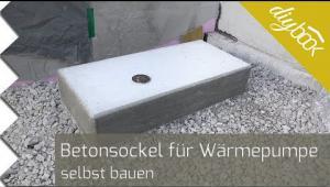 Embedded thumbnail for Betonsockel für eine Wärmepumpe aufstellen
