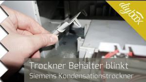Embedded thumbnail for Fehlermeldung Behälter leeren: Siemens-Trockner reparieren