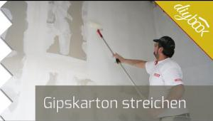 Embedded thumbnail for Gipskarton streichen