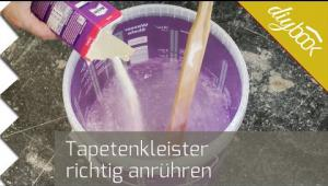 Embedded thumbnail for Tapetenkleister anrühren