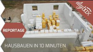 Embedded thumbnail for Reportage: Haus bauen in 10 Minuten – Die Magie von Porenbeton