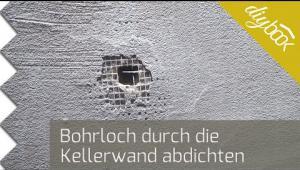 Embedded thumbnail for Bohrloch durch die Kellerwand abdichten
