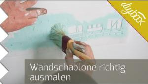 Embedded thumbnail for Wandschablone ausmalen