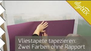 Embedded thumbnail for Vliestapete ohne Rapport tapezieren